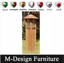 Outdoor Wood Light Box Bollard Pole Light Garden Lighting