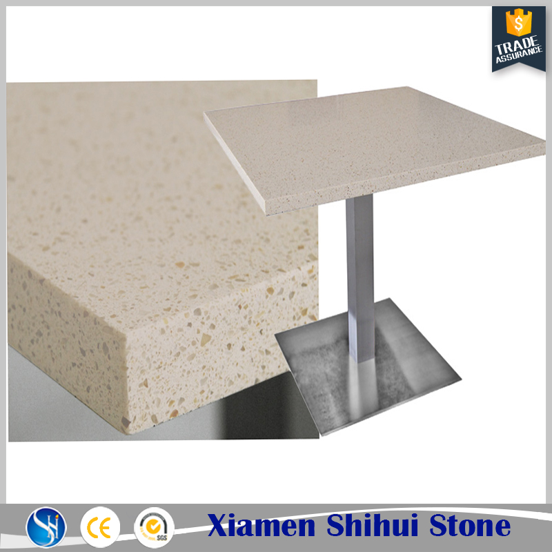 Good price brown quartz stone table top cafe table top