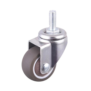 1 inch Light Duty TPE M6 Threaded Screw Cabinet Caster Wheel
