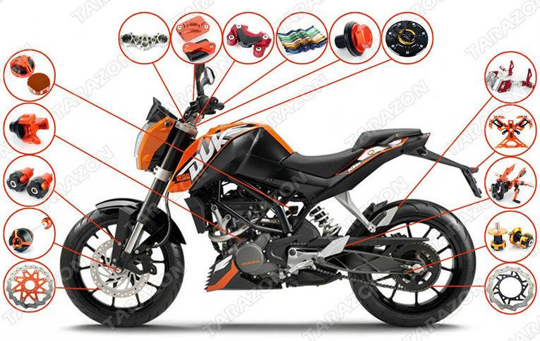 ktm duke 200 alloy aluminum motorcycle tuning parts - buy ktm duke