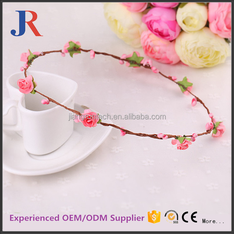 Best selling promotional decoraticve artificial rose flower bulk garland