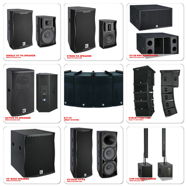 Pa System + Arrays Speakers +outdoor Concert Loudspeaker