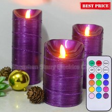 flameless moving wick led candle with remote
