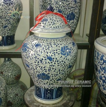 h60cm chinese blue and white ceramic porcelain antique large ginger jars
