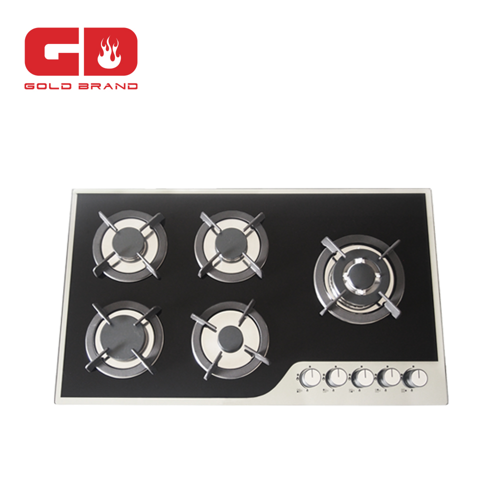 Top selling CE 5 burner steel tray indoor portable butane gas stove for kitchen appliance