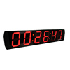 Functional oem service 6 digit 7 segment led light digital wall clock