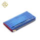 Top grade large capacity chinese rfid luxury clutch purse crocodile pattern handmade slim long genuine leather woman wallet