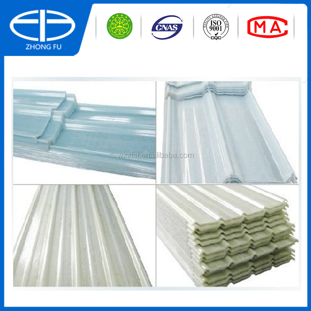 Cheap FRP semi-transparent corrugated roof