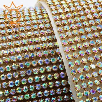 Crystal Rhinestone Flatback Self Adhesive Sheet Or Hotfix To Fabric Rhinestone Decor 2mm Mesh Roll For Wedding Bling Trim Ab Buy Rhinestone