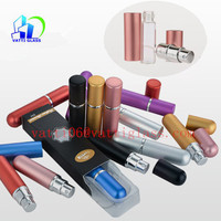 5ML Colored Cylindrical Empty Aluminum Atomizer Perfume Spray Bottles Wholesale