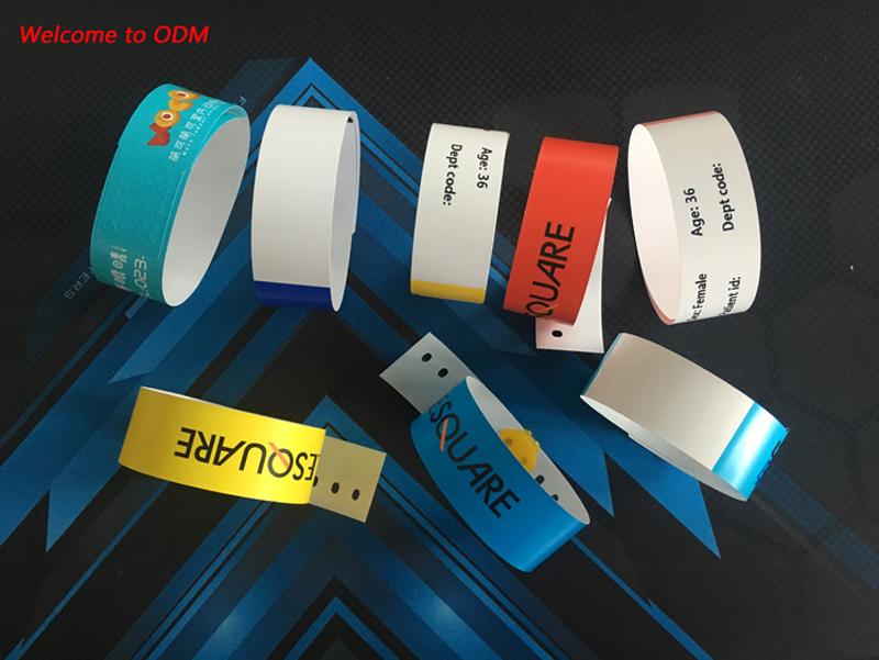 FTGO ยี่ห้อขายส่งที่ดีที่สุดคุณภาพกิจกรรมสายรัดข้อมือ id สำหรับเทศกาลหรือปาร์ตี้