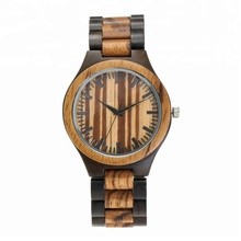 Commercio all'ingrosso logo <span class=keywords><strong>personalizzato</strong></span> unisex handmade Interna Zebrano <span class=keywords><strong>Legno</strong></span> Orologio