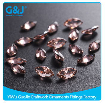 guojie brand best quality horse eye shape Pointback type crystal zirconia rhinestone