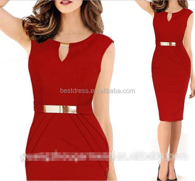 Wholesale Spring Fashion Office Lady Pencil Bandage Dress