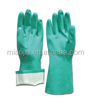 Household nitrile flcoklined gloves
