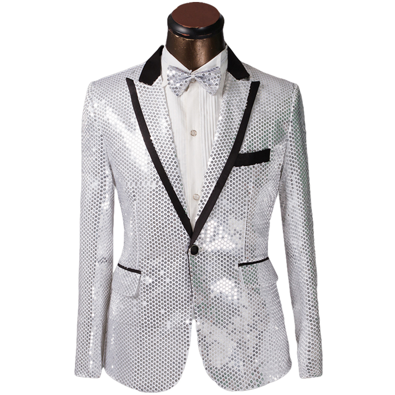 Buy 2015 New Arrival Men Shiny Suits Slim Fit Custom Sequined ...