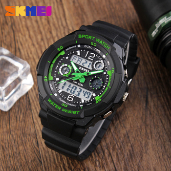 98b4971a6a9 Skmei 0931 tempo militar mens dual time zona analógico relógios digitais