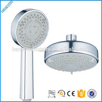 Button Press Select Massage Shower Head Set with No Drilling Shower Mount