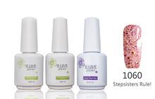3 packs iLuve Professional Colorful Shinny Nails Art UV LED Lamps Gel Polish 15ml Base Top