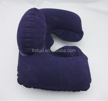 Air travel neck pillow inflatable U-shape