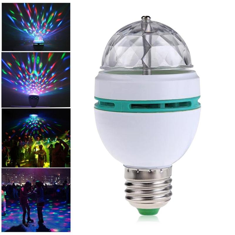 E27 3W AC85-260V Colorful Auto Rotating RGB LED Bulb Stage Light Disco DJ Party Lamp 85-265V Holiday Bulb for Bar KTV Lighting