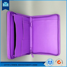 Wholesale 2016 new custom gift business A4 zipper portfolio with bellows pocket folder bag