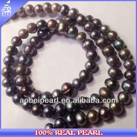 AA 4-5MM Peacock Baroque Shape Cultured Freshwater Black Pearl