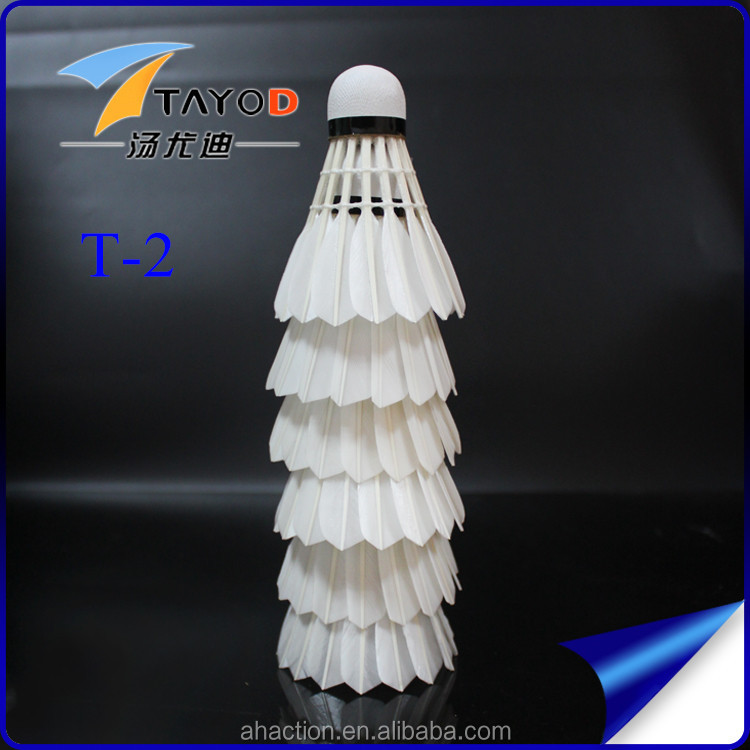 high quality hot sale durable badminton shuttlecock T-2