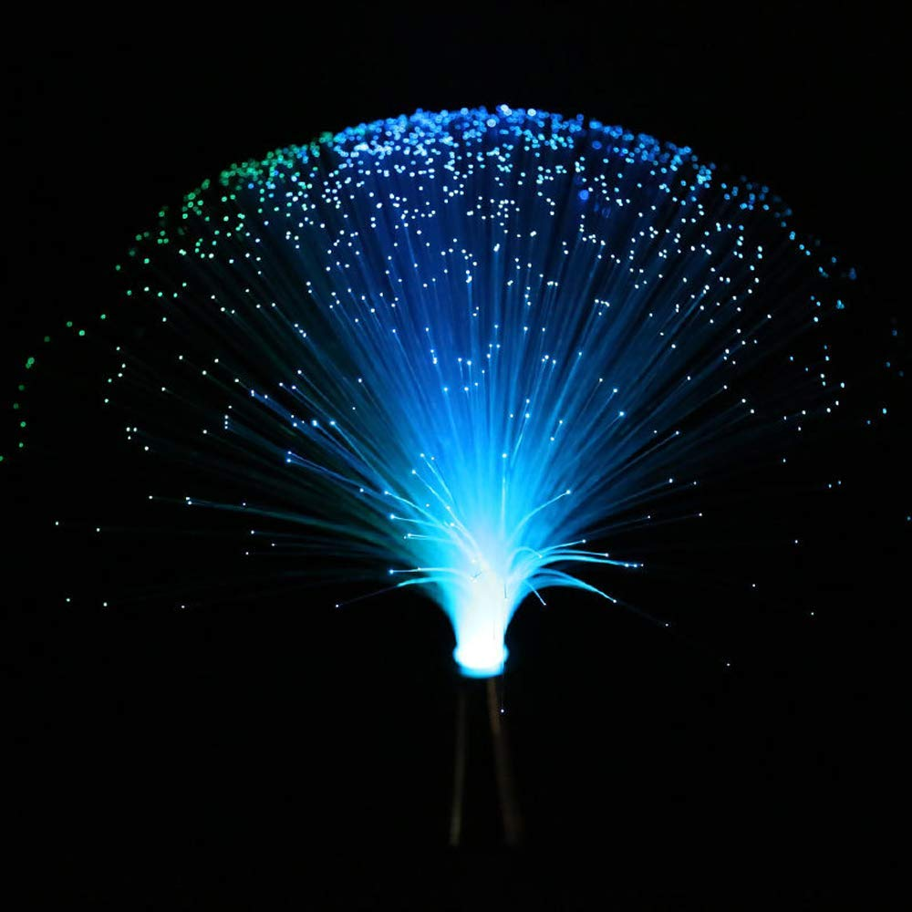 Get Quotations Led Multicolor Changing Fiber Light Colourful Fibre Optic Fountain Party Nightlight Lamp Calming