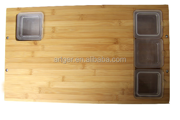 brand new bamboo cutting board wholesale with container