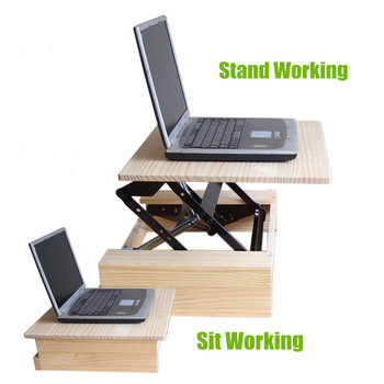 Genial Portable Computer Desk Folding Table Sit Stand Desk Stand Up Desk Table For  Office