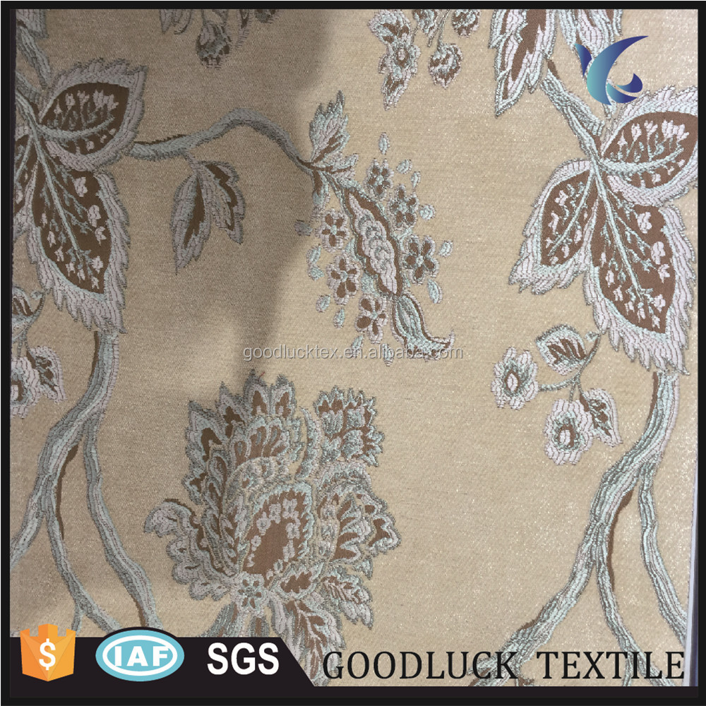 Latest Chenille Jacquard Designs Continuous Curtain Fabric