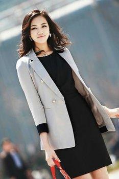 ec3ddebf0ee Vêtements Femme Classique Double Veste - Buy Veste Classique Pour ...