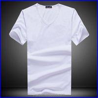 2016 new fashion t shirts plain custom t-shirt plain cheap blank white t shirts in bulk