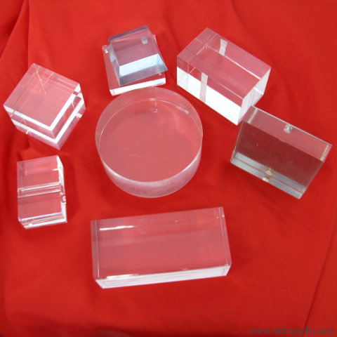 Crystal Clear Solid Acrylic Block Display For Jewelry, Solid Acrylic Disc