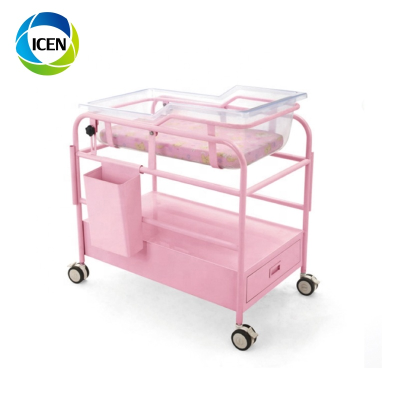 IN-605  Baby Bed Portable Baby Cart Transparent Acrylic Bassinet Baby Cot With Drawer