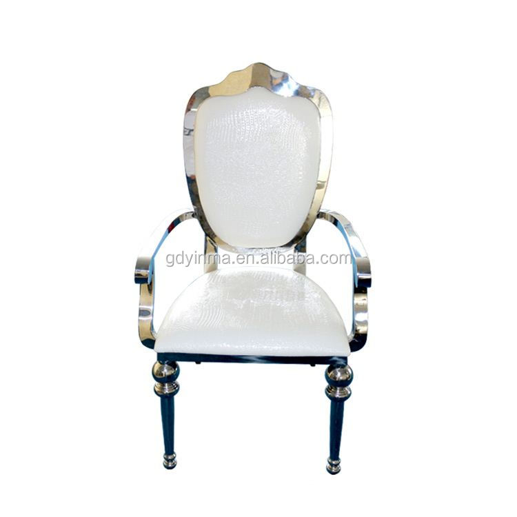 Fashionable design wholesale gold engraving chair for events