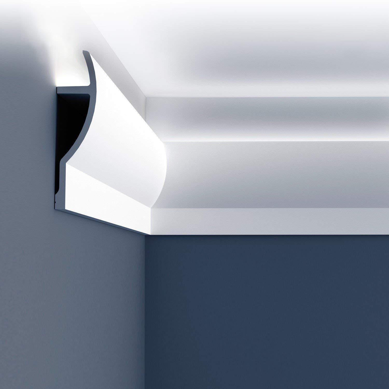 чем заключаются потолочный плинтус под светодиодную ленту фото что днях