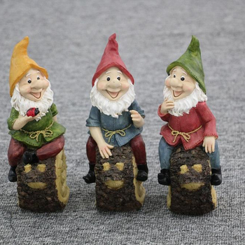 Cute Whimsical Garden Gnomes On Pick For Fairy Gardens Potted