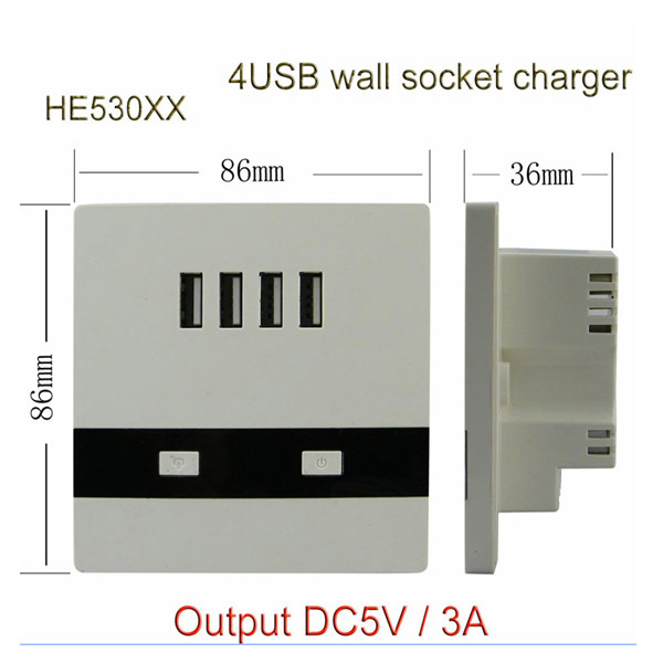 Dc 12v Four Socket Usb Charger Power Adapter Electrical Outlet ...