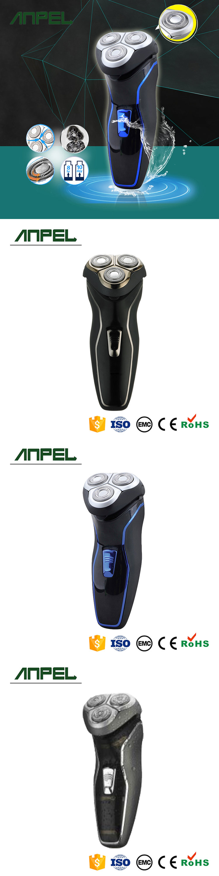Led Display Electric Washable Rechargeable Men Shaver for Men