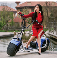 Cheap 1000W Dubai Fat Tire Electric Scooter City COCO For Adults
