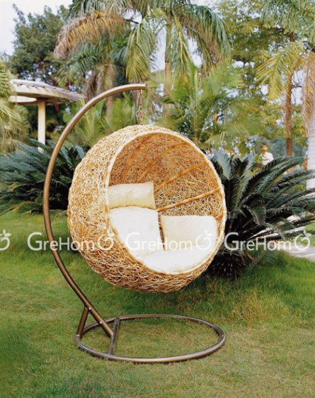 Wicker Hanging Egg Chair With Stand   Buy Wicker Hanging Chair,Hanging Egg  Chair With Stand,Egg Shaped Chair Product On Alibaba.com
