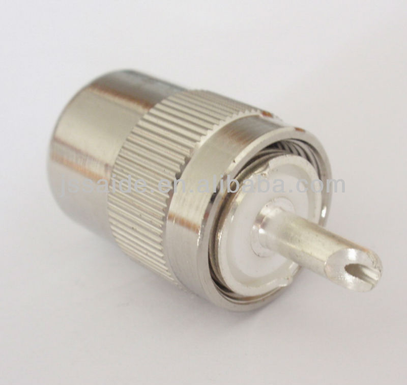 UHF male clamp RF coaxial connector for RG58 cable