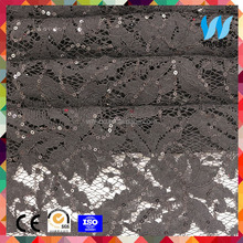 African lace dress fabrics black, yellow, red ,white colors