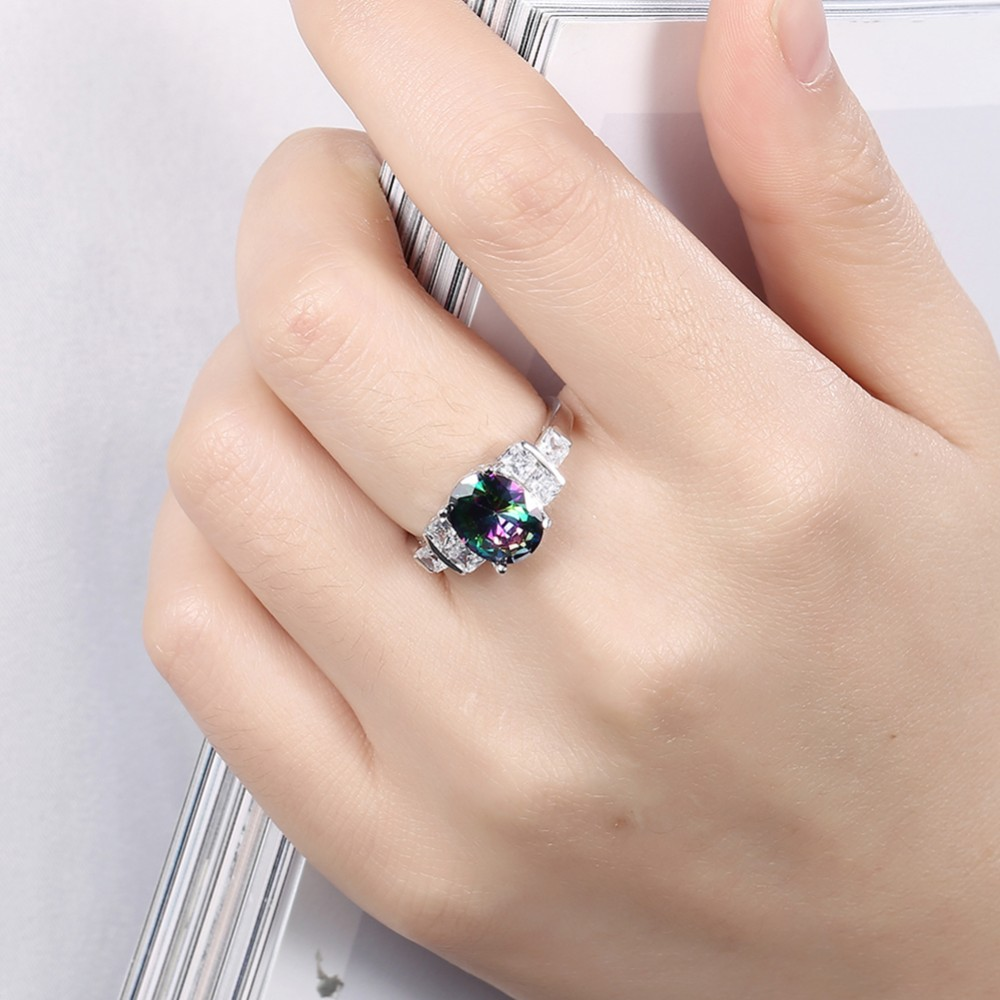 nireland in halo rose emerald diamond wedding rectangle gold ring cut engagement dk rings with