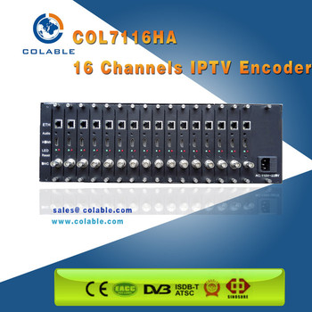 16ch H.264/hevc And H.265 Encoder For Cable Tv Digital Headend And ...