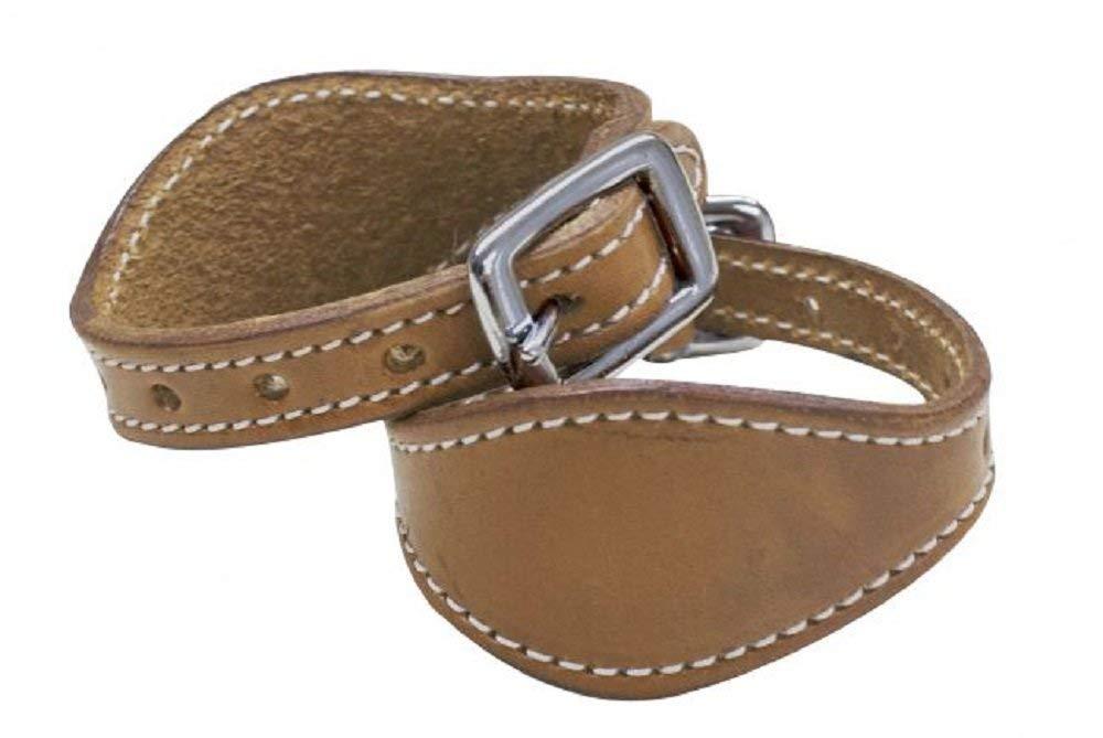 Showman LIGHT Leather Double Stitched Western Saddle Stirrup Hobbles