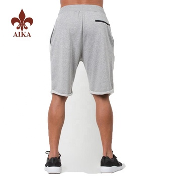 High quality men comfortable sports shorts custom Navy cargo sweat shorts