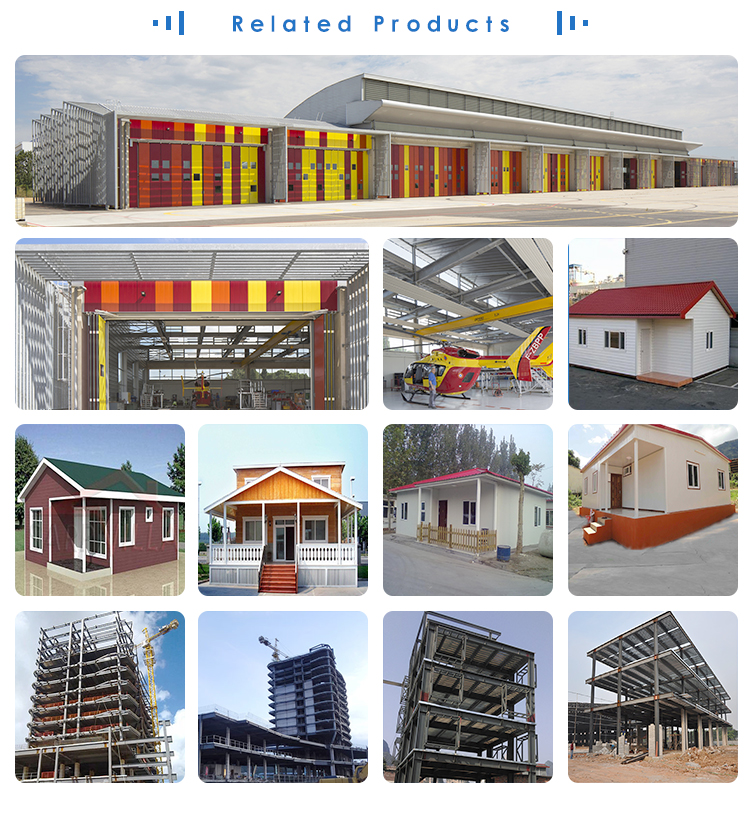 pu panel turn key prefabricated light steel structure villa
